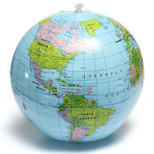 Inflatable World Globe Earth Map Geography Teacher Aid Ball Toy Gift 38cm
