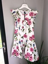 Monnalisa Rose Dress Age 12 New With Tags