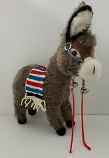 "Vintage Merrythought Ironbridge Shrops Mohair Donkey Burro 18"" Made in England"