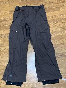 Sessions Ridge Series Waterproof 10,000mm Brown Snowpants Mens Large