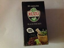 (x2) RUZU BLACK FOR MEN 120 CAPSULES - Two New Packs