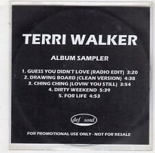 (HB454) Terri Walker, 5 Track Album Sampler - DJ CD