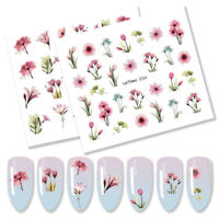 8PCS LEMOOC Nagel Wasser Sticker Tropical Plants s Transfers Maniküre