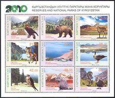 Kyrgyzstan 2011 Parks/Eagle/Bear/Goose/Animals/Birds/Nature/Wildlife m/s n41423