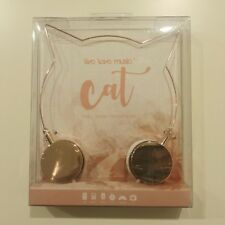Cat Ears Rose Gold Headphones Girls Kids Women Fashion Gift