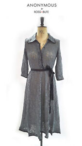 Anonymous by Ross + Bute Light Weight Sheer Lace Slate Dress Size 8