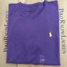 Polo Ralph Lauren Men's T-Shirt Tee V-Neck Pony Vally Purple Sz S