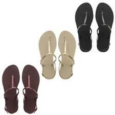 Havaianas You Riviera Black Vegan Strap Rubber Women Sandals Size UK 3 - 8