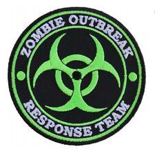 Zombie Outbreak Response Team Patch Embroidered Iron On Sew On Bio Hazard