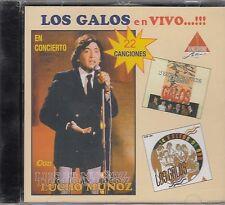 Los Gallos En Vivo En Concierto Con Lucho Muñoz CD New Nuevo sealed