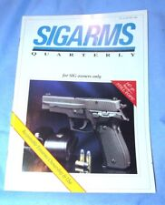 Sigarms Sig Sauer Quarterly Magazine *For Sig Owners Only* - Winter 1995