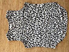 Sportscraft Signature size 14 black and white leopard print singlet