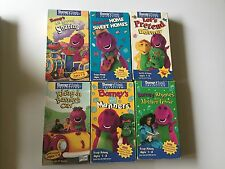 Lot of 6 Barney & Friends Collection  Kids Show (VHS)