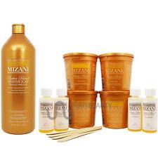 Mizani Butter Blend Relaxer 4 kit & Sensitive Scalp Hair Bath Shampoo w/Body Oil