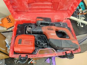Hilti WSR 36A Cordless Reciprocating Saw 2 batteries and charger case