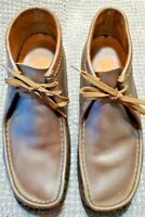 Clark's Originals Wallabees Boot Chukka -Beeswax Brown Leather Mens Size 10