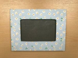 Daisy Photo & Picture Frame Blue White Yellow Green Rectangle Fabric Edge Cute