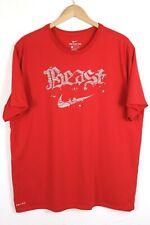 Nike Men's DRI-FIT BEAST Athletic Training T Shirt Red Size XXL