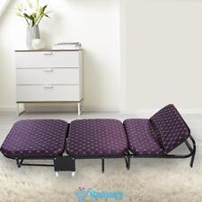 Folding Single Guest Bed Mattress Foam Fold Up Away Portable Rollaway Camping UK