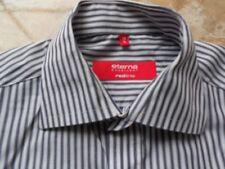 EA0787 Eterna REDLINE EXCELLENT Hemd 38 Weiß Grau  Gestreift