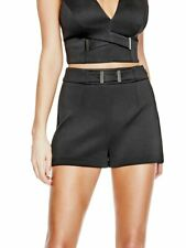 GUESS Tetiana Hardware-Detail Shorts Jet Black XL $69