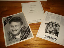 NEWHART 3 Emmy ads with Tom Poston, Bob Newhart, Peter Scolari, Julia Duffy