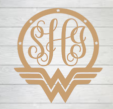 Personalized Wonderwoman Monogram Vinyl Decal 3x3
