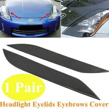 1 Pair Fit For 03-08 Nissan 350Z Z33 Headlight Eyelids Eyebrows Cover