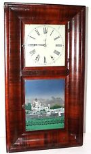 "ANTIQUE 1860s JEROME & CO RARE ""DOUBLE DECKER"" (2 DOOR) WEIGHT DRIVEN OGEE CLOCK"