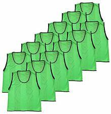 Youth Team Sports Hockey Soccer Mesh Scrimmage Training Vest Pinnies- Pack of 12