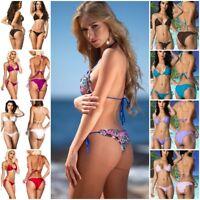 Coqueta Bikini Set Brazilian Swimwear Women's Swimsuit Ruffles Ripple Tie Sides