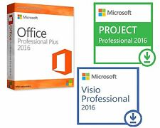 Office 2016 Pro + Visio 2016 Pro + Project 2016 Professional 32/64 1 PC