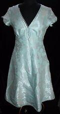 Marc Jacobs Womens Dress 6 Sea Foam Silver Metallic Brocade A-Line Tea Cocktail