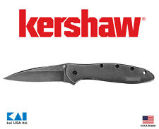 "Kershaw Knives Ken Onion 1660BLKW Leek Folding Knife 3"" 14c28n Blackwash Blade"