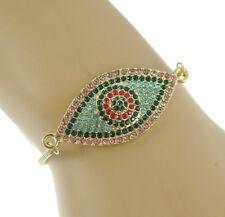 Turkish Evil Eye Bracelet CZ Mother Blue crystal Women Tennis Adustable Jewelry