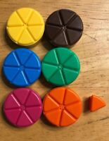 Trivial Pursuit Replacement Game Pieces Wedges from Family Edition Full Set