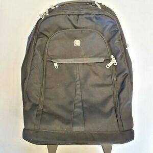 Swiss Army Swiss Gear Large Backpack Padded Laptop Bag Compartments Grey Black