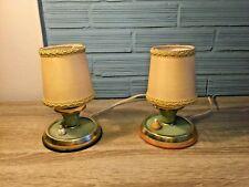 Vintage Table Lamp Pair Mid Century Modern Design Bedside Night Light