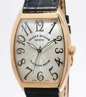 Franck Muller Curvex Platinum Rotor 18k Rose Gold Automatic Mens Watch 6850 SC