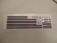 Decal-Satz  Opel Manta B i200  1:18  Decalsatz  Dekorsatz