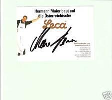 AUTOGRAMMKARTE - Hermann Maier