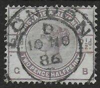 SG190. 2&1/2d.Lilac. Superb Used-Centrally Placed London Hooded Circle. Ref.0847