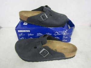 Birkenstock Men's US12/EU45 Boston BS Clogs Black 0059461