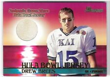 DREW BREES 2001 BOWMAN ROOKIE HULA BOWL JERSEY RC CARD!