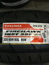 1 New 225 45 18 Firestone Firehawk Indy 500 Tire