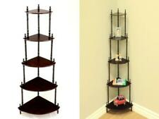 Frenchi Home Furnishing 5-Tier Corner Stand Dark Cherry
