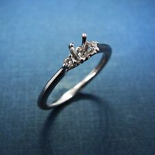 Gabriel & Co Three Stone Engagement Ring Semi-Mount - Thalia - ER8548W44JJ- 14KW