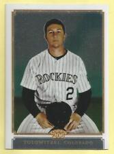 2010 Topps Chrome Baseball Troy Tulowitzki Topps 206 Chrome Rockies 776/999