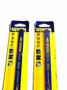 """2x IRWIN 10504524 Bi Metal Hacksaw Blades 12""""/300mm - 24 TPI 2 Pack Of 2 Blades"""