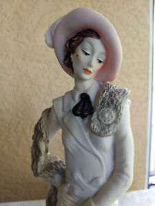 Giuseppe Armani Figurine Statue 'LADY WITH POODLE DOG'